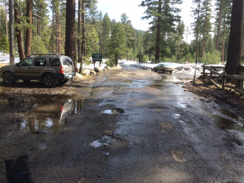 Fallen Leaf Road at entrance to Campground